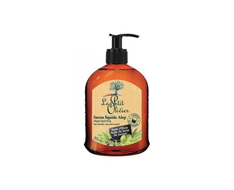 Le Petit Olivier Přírodní tekuté mýdlo s olivovým a vavřínovým olejem Aleppo (Liquid Soap) 300 ml