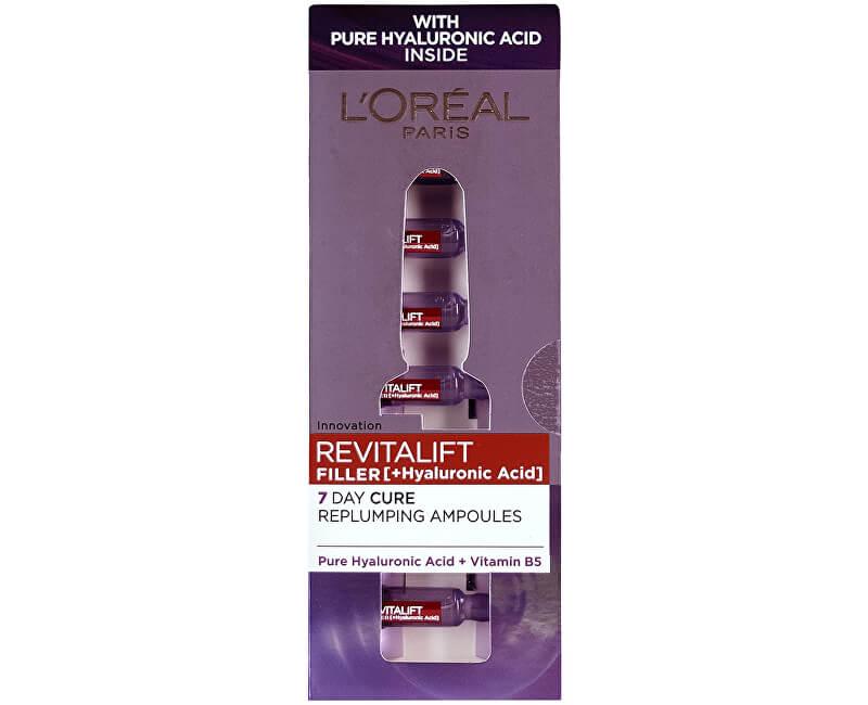 Loreal Paris Vyplňující pleťová péče s kyselinou hyaluronovou Revitalift Filler (Hyaluronic Acid) 7 x 1,3 ml