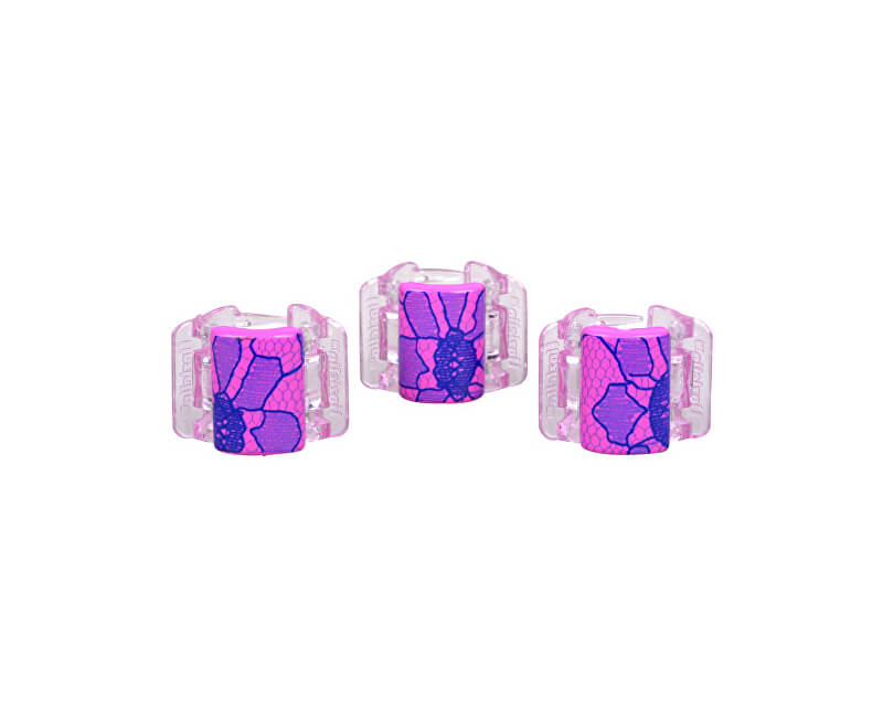Linziclip Malý štipec MINI 3 ks - ružový s čipkou