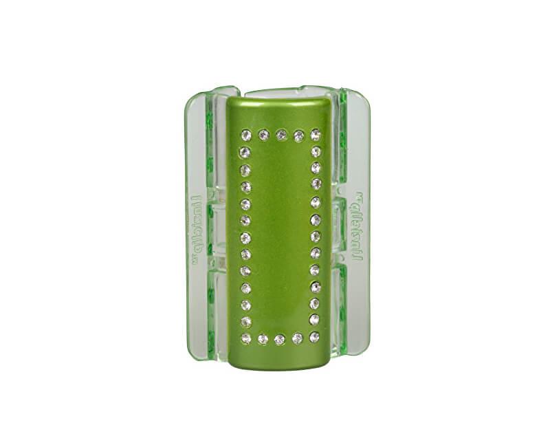 Linziclip Velký skřipec MAXI - zelený s krystalky