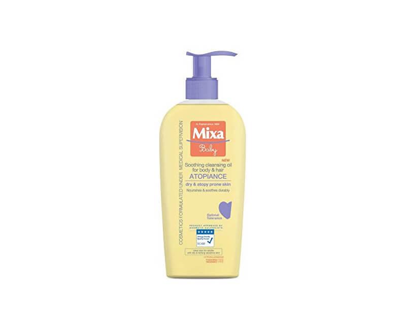 Mixa Upokojujúce a čistiace olej pre deti (Soothing Cleansing Oil For Body & Hair ) 250 ml
