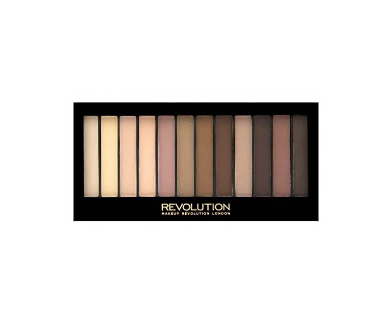 Makeup Revolution Paletka 12 očních stínů Essential Mattes 2