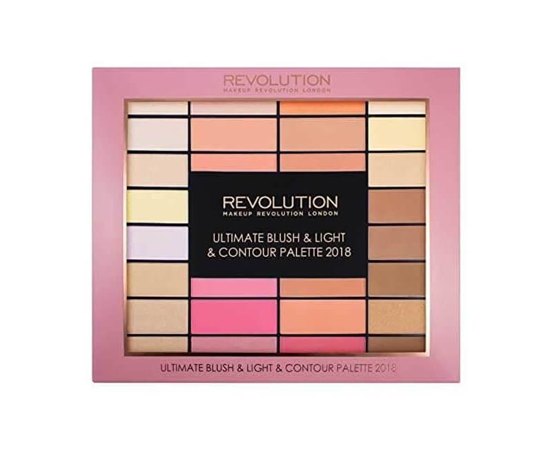 Makeup Revolution Paletka tvářenek (Ultimate Blush & Light & Contour Palette 2018)