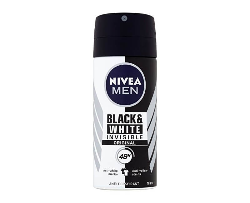 Nivea Antiperspirant ve spreji pro muže Invisible For Black & White (Antiperspirant) 100 ml
