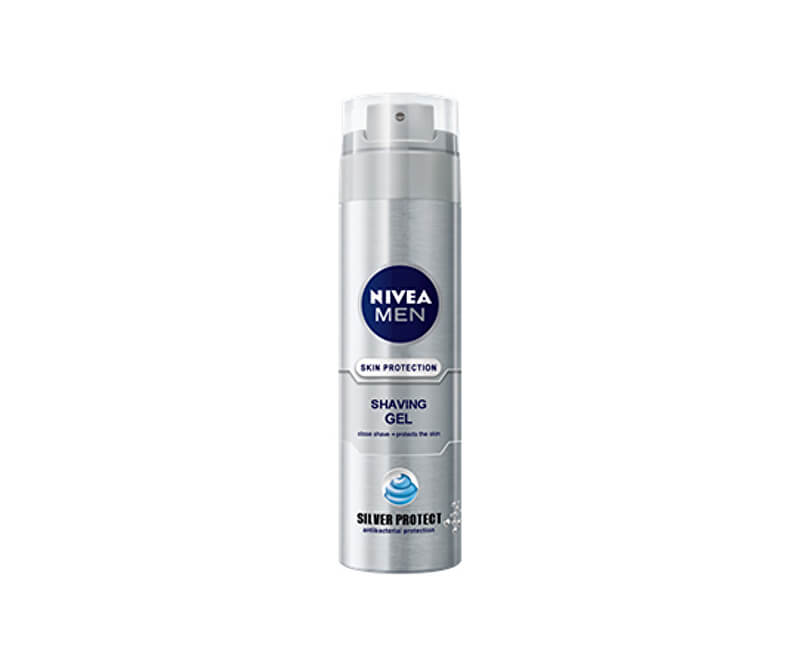 Nivea Gel na holení Silver Protect 200 ml