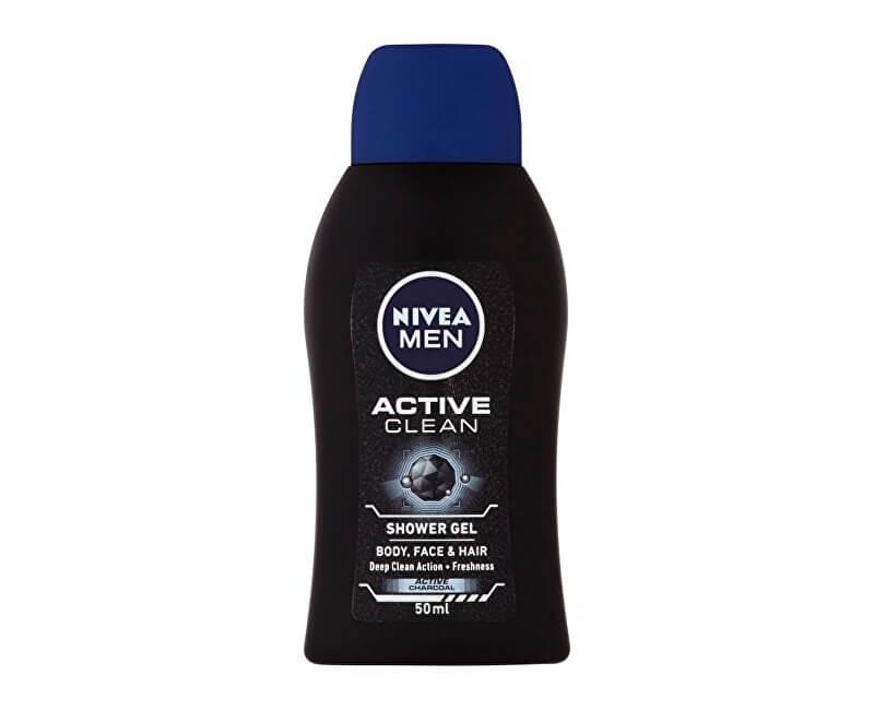 Nivea Sprchový gel pro muže Active Clean mini (Shower Gel) 50 ml