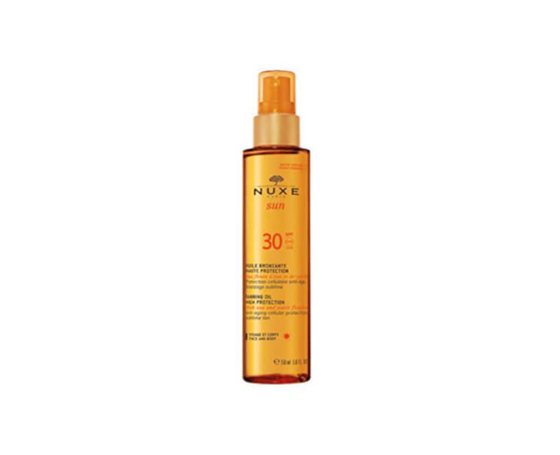 Nuxe Bronzující olej na opalování na obličej a tělo SPF 30 Sun (Tanning Oil For Face And Body) 150 ml