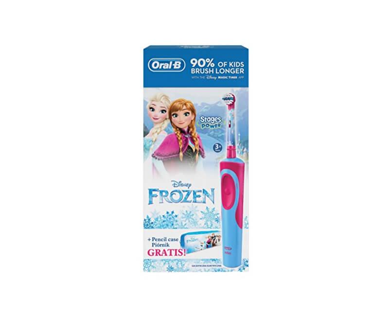 Oral B Dětský zubní kartáček Vitality Frozen + Penál