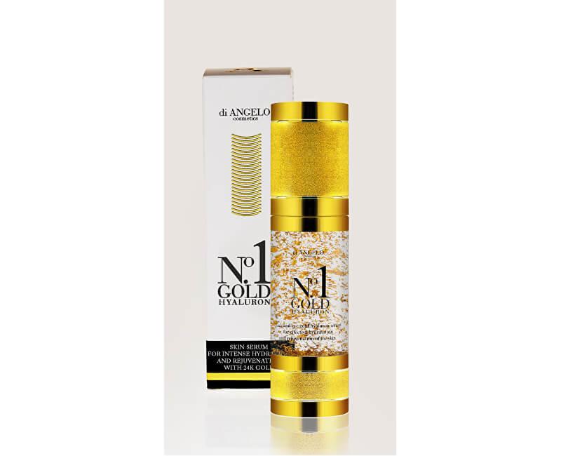 di ANGELO cosmetics Pleťové sérum s kyselinou hyaluronovou No.1 Gold Hyaluron (Skin Serum For Intense Hydration) 30 ml