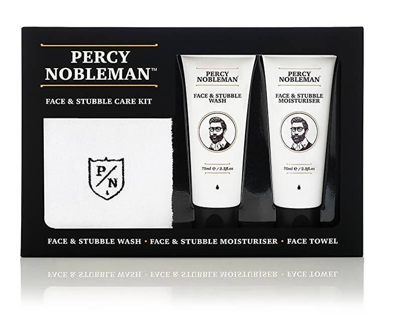 Percy Nobleman Pánská dárková sada péče o pleť a vousy (Face & Stubble Care Kit)