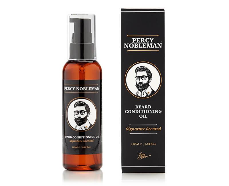 Percy Nobleman Vyživující olejový kondicionér na vousy s dřevitou vůní (Beard Conditioning Oil) 100 ml
