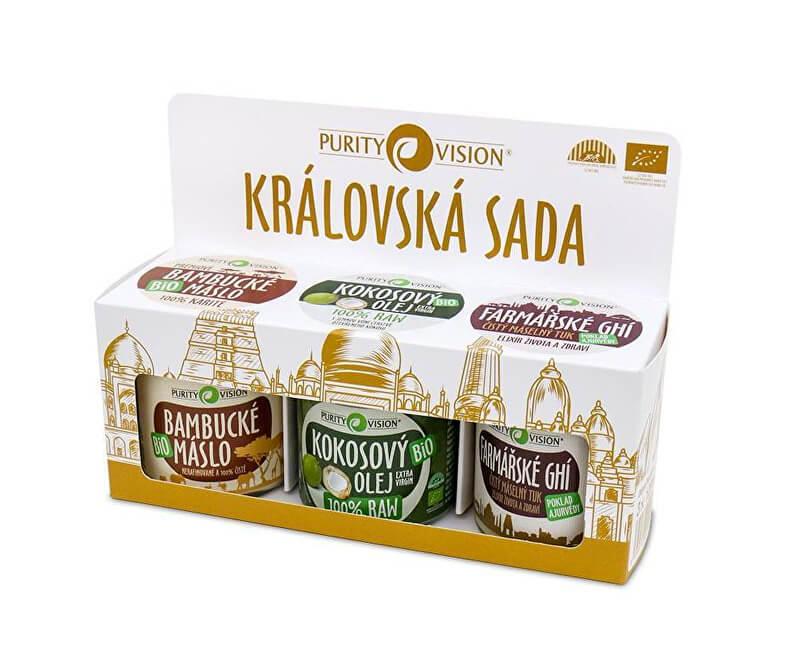 Purity Vision Královská sada (Bambucké máslo, Raw kokosový olej, Farmářské Ghí)
