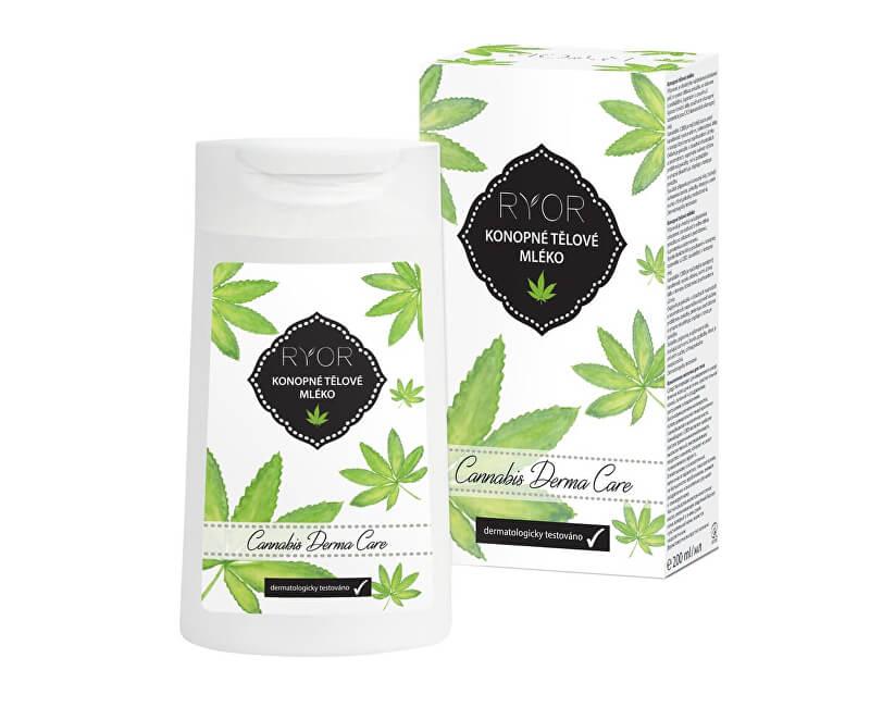 RYOR Konopné tělové mléko Cannabis Derma Care 200 ml