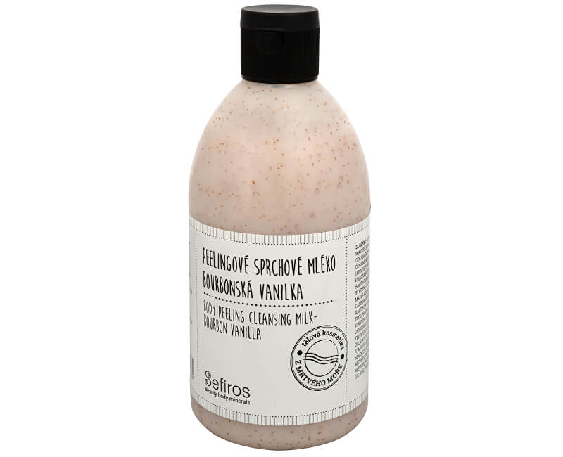 Sefiros Peelingové sprchové mlieko Bourbonská vanilka (Body Peeling Cleansing Milk) 500 ml