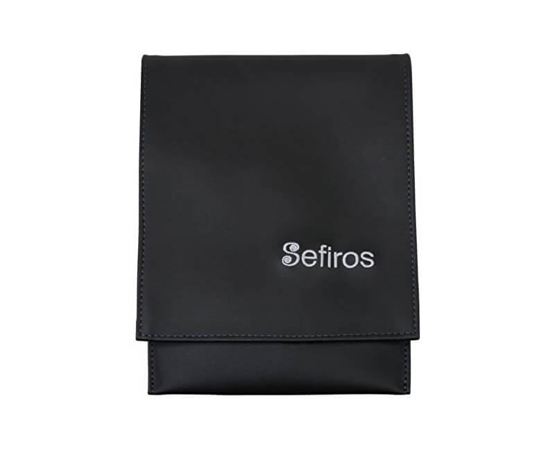 Sefiros Luxusné puzdro na kozmetické štetce so strieborným logom ... 59d1b3ce5b8