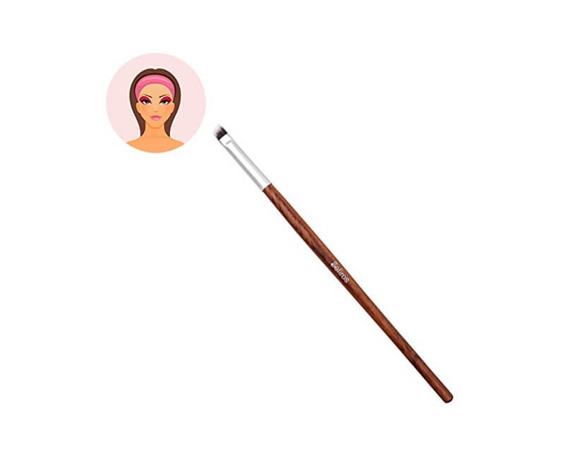 Sefiros Šikmý štětec na oční stíny s rukojetí z červeného dřeva Red Wood (Eyeshadow Brush Angular)