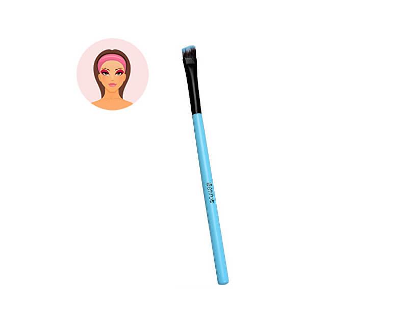 Sefiros Šikmý štetec na očné tiene malý s rukoväťou Pastell (Eyeshadow Brush Pastell)