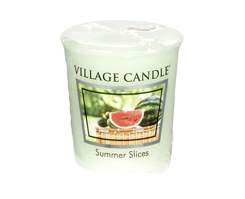 Village Candle Aromatická votivní svíčka Meloun s okurkou (Summer Slices) 57 g