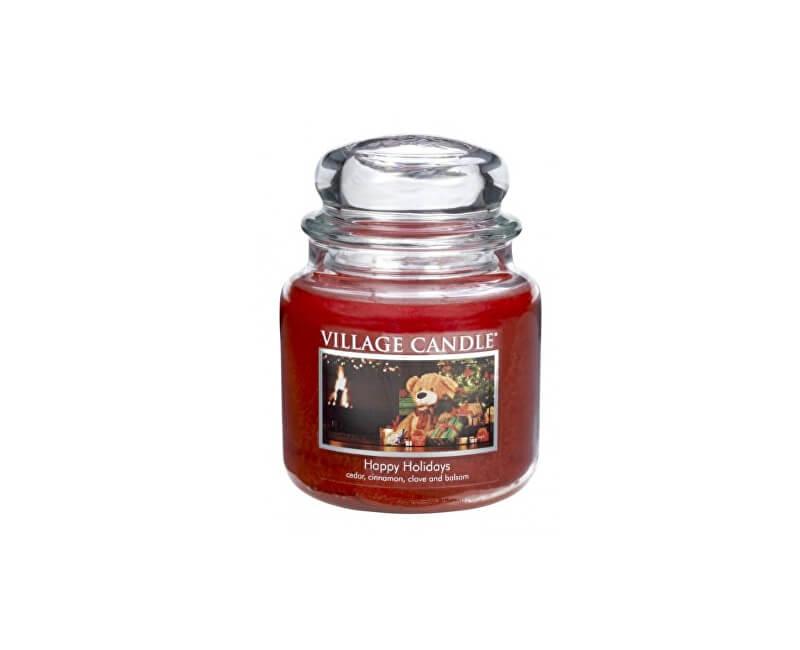 Village Candle Vonná svíčka ve skle Šťastné Vánoce (Happy Holidays) 397 g