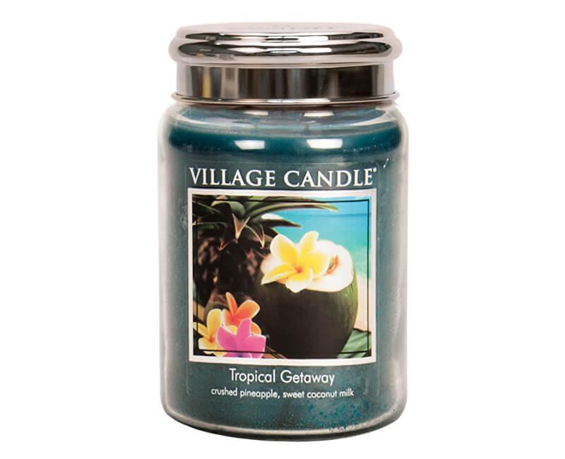 Village Candle Vonná svíčka ve skle Víkend v tropech (Tropical Getaway) 645 g