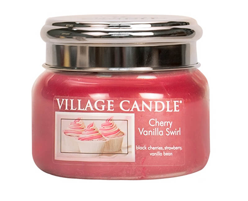 Village Candle Vonná svíčka ve skle Višeň a vanilka (Cherry Vanilla Swirl) 269 g