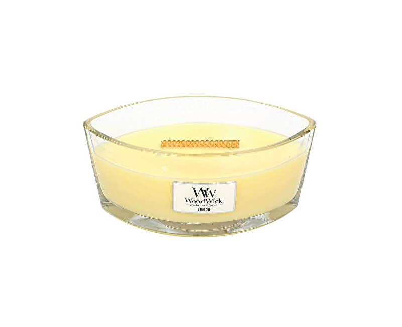 WoodWick Vonná svíčka loď Lemon 453 g