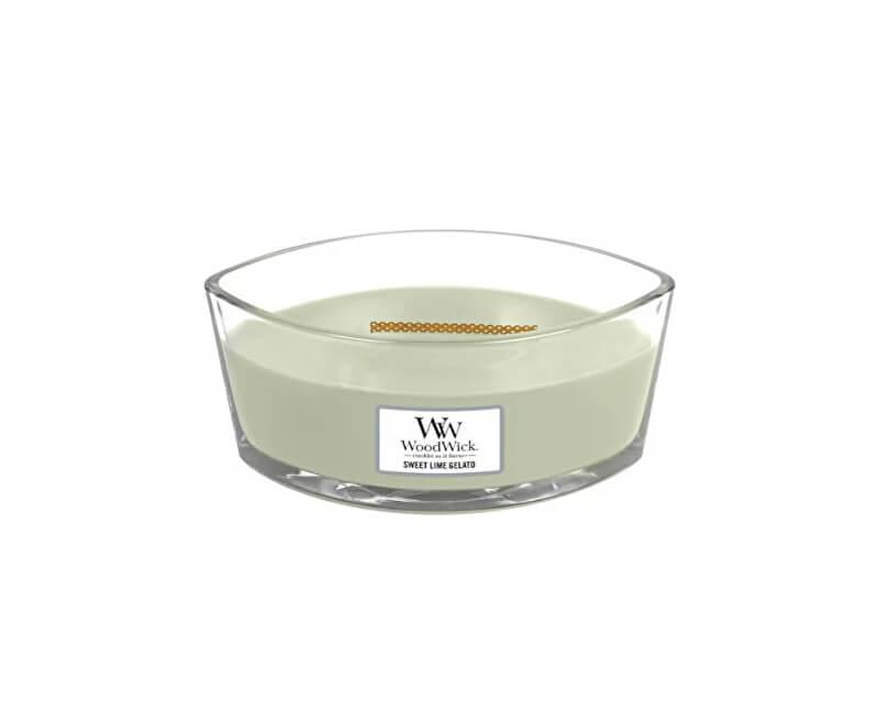 WoodWick Vonná svíčka loď Sweet Lime Gelato 453 g