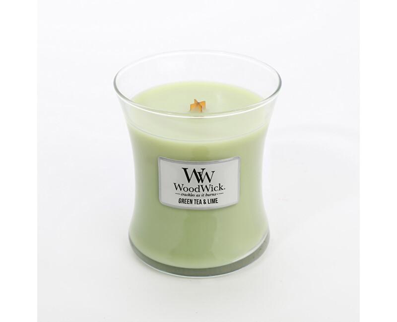WoodWick Vonná svíčka váza Green Tea & Lime 275 g