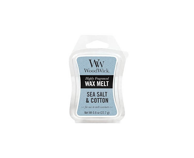 WoodWick Vonný vosk Sea Salt & Cotton 22,7 g