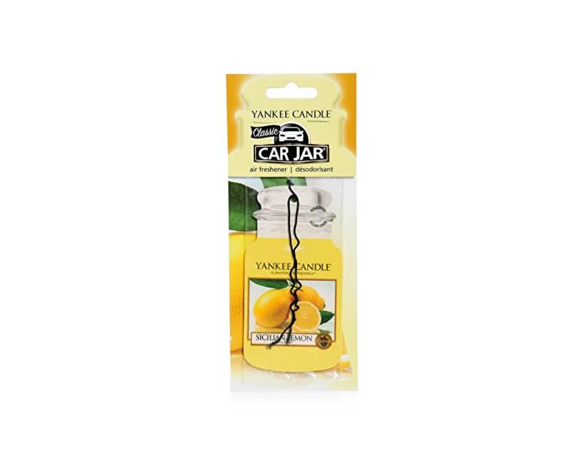 Yankee Candle Papírová visačka do auta Sicilský citron (Sicilian Lemon) 1 ks