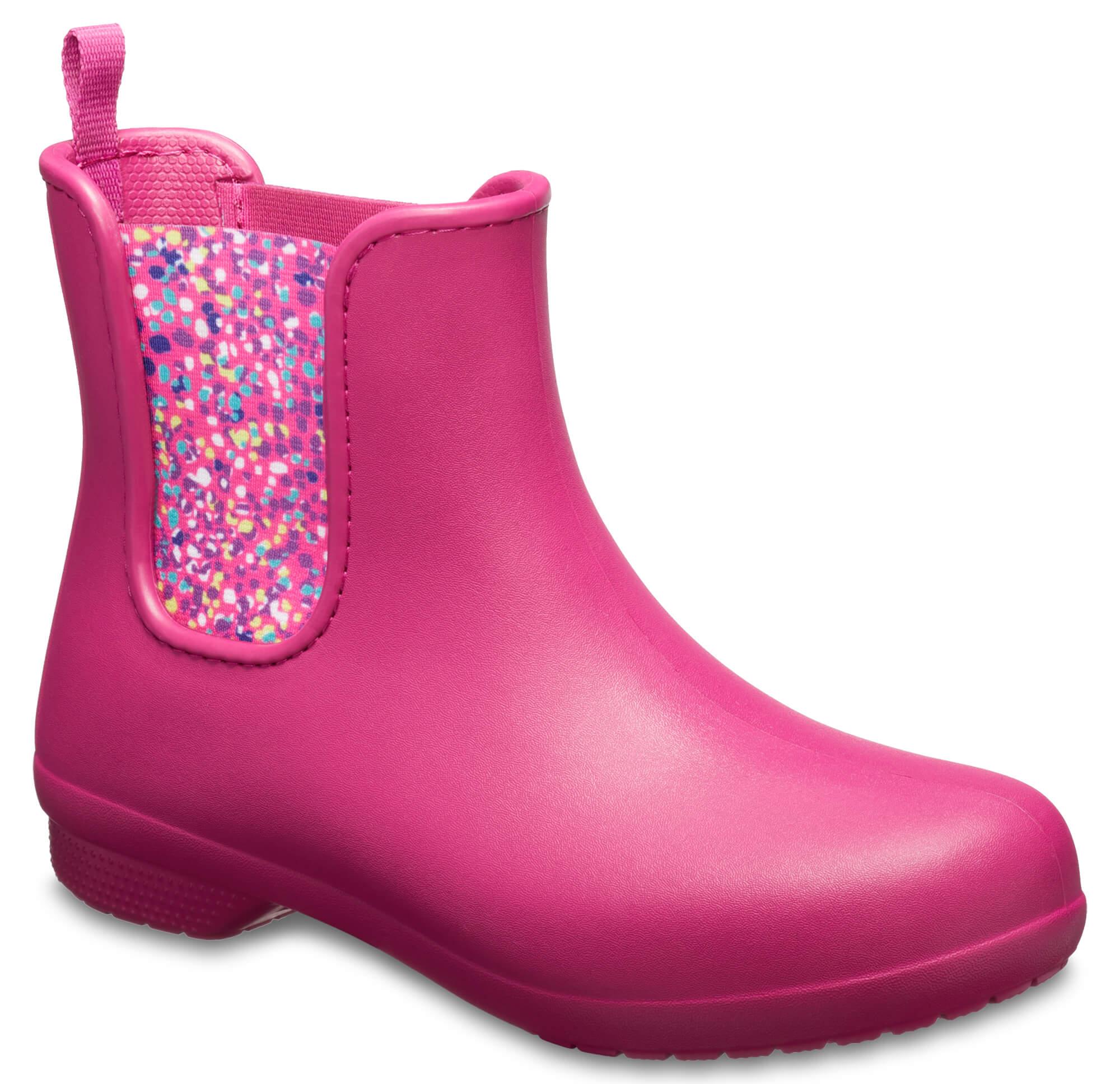 9915eb5cd7a Crocs Dámské holínky Crocs Freesail Chelsea Boot Berry Dots 204630 ...