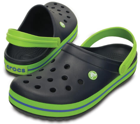 d728080f65a Crocs Dětské pantofle Crocband Clog Navy Volt Green 204537-4K6 ...