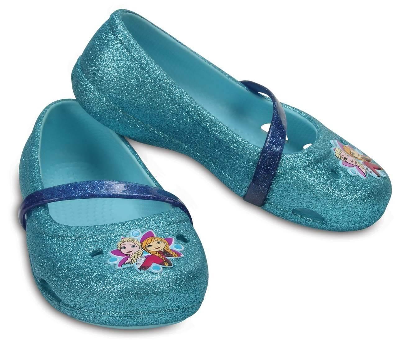Crocs Dětské baleríny Crocs Lina Frozen Flat Ice Blue 204454-4O9 ... 8b0b372918
