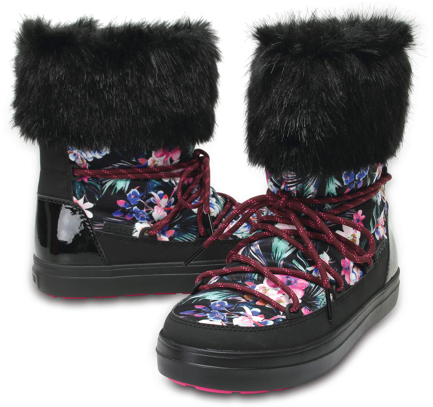 a0dde4bed04 Crocs Dámské sněhule LodgePoint Graphic Lace Boot W Tropical Black  204791-95W