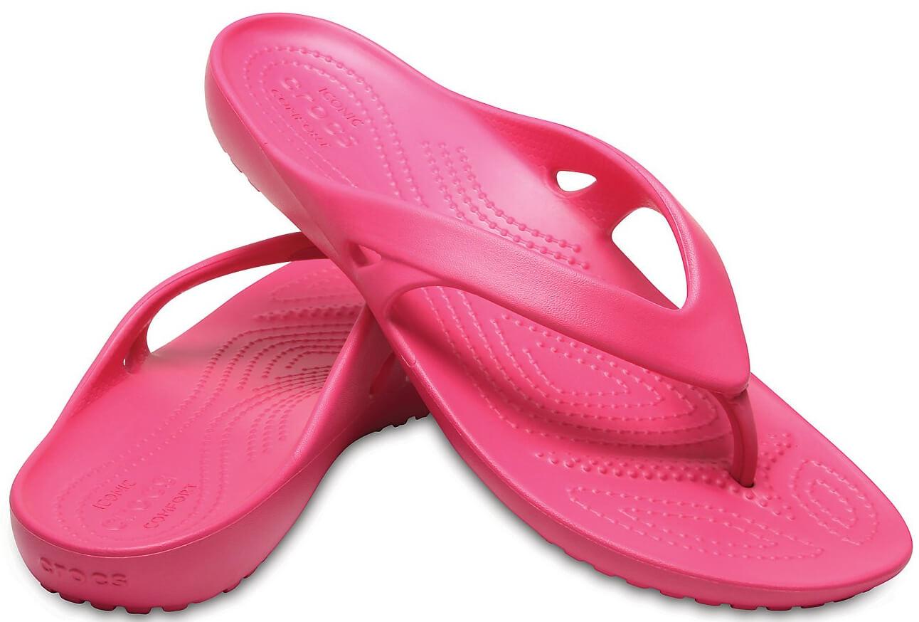 Crocs Dámské žabky Kadee II Flip Paradise Pink 202492-6NP  9699d03041