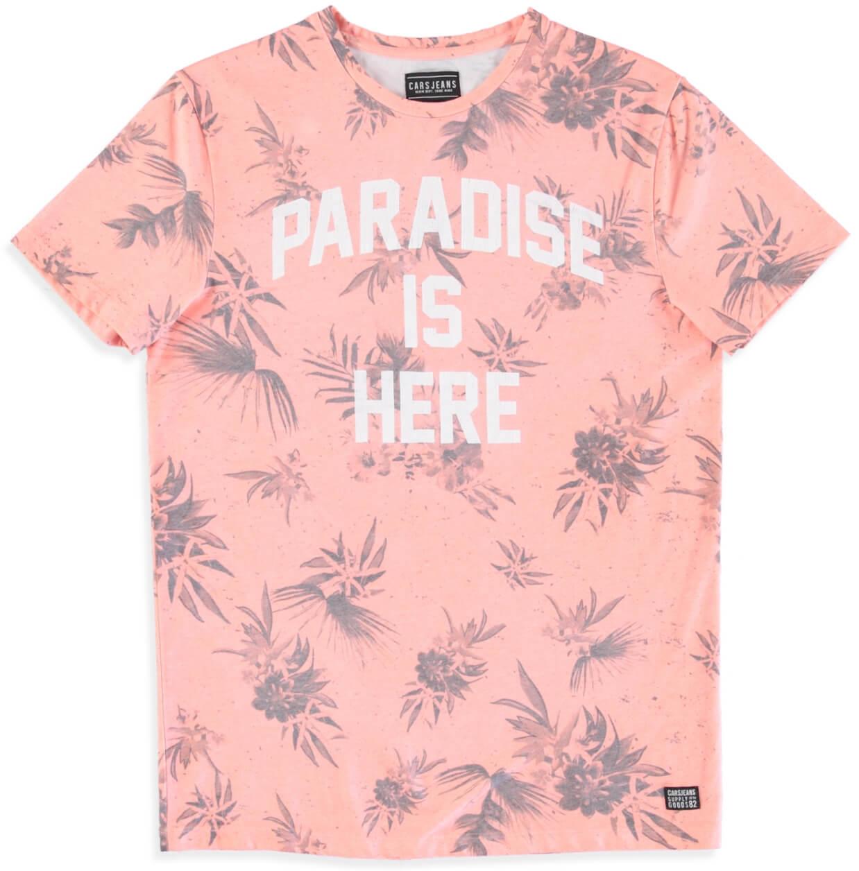 5c215ee8c1dd Cars Jeans Pánske tričko Paradise 4014764 Coral