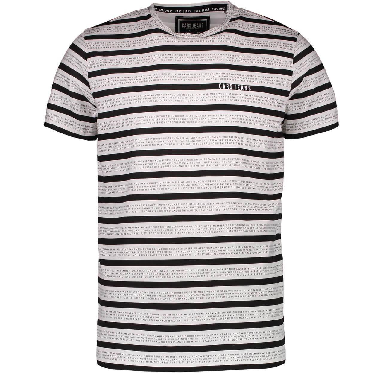 29c8a9989265 Cars Jeans Pánské triko Tigo Ts Stripe White 4238923