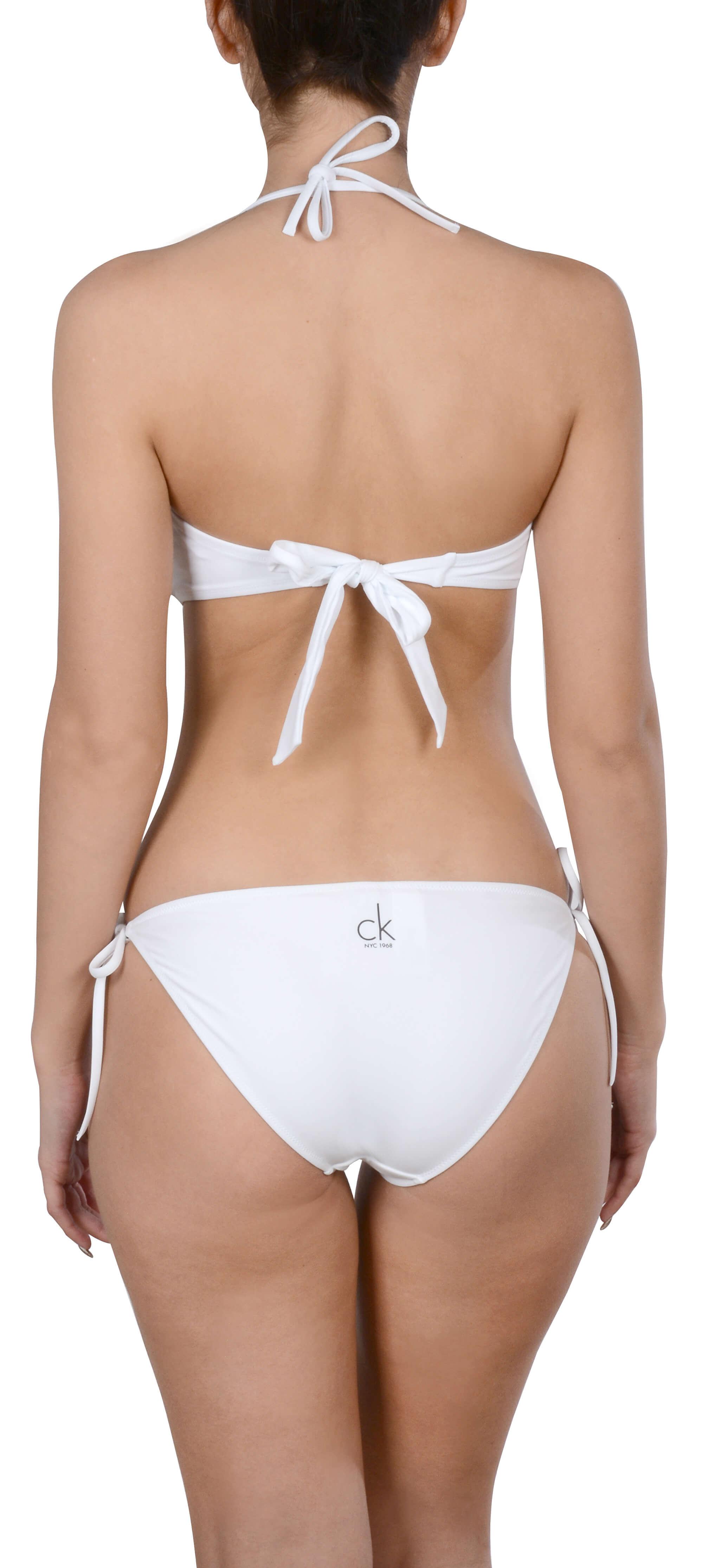 b7c18f917d3 Calvin Klein Plavkové kalhotky Side Tie Bikini KW0KW00085-100 ...