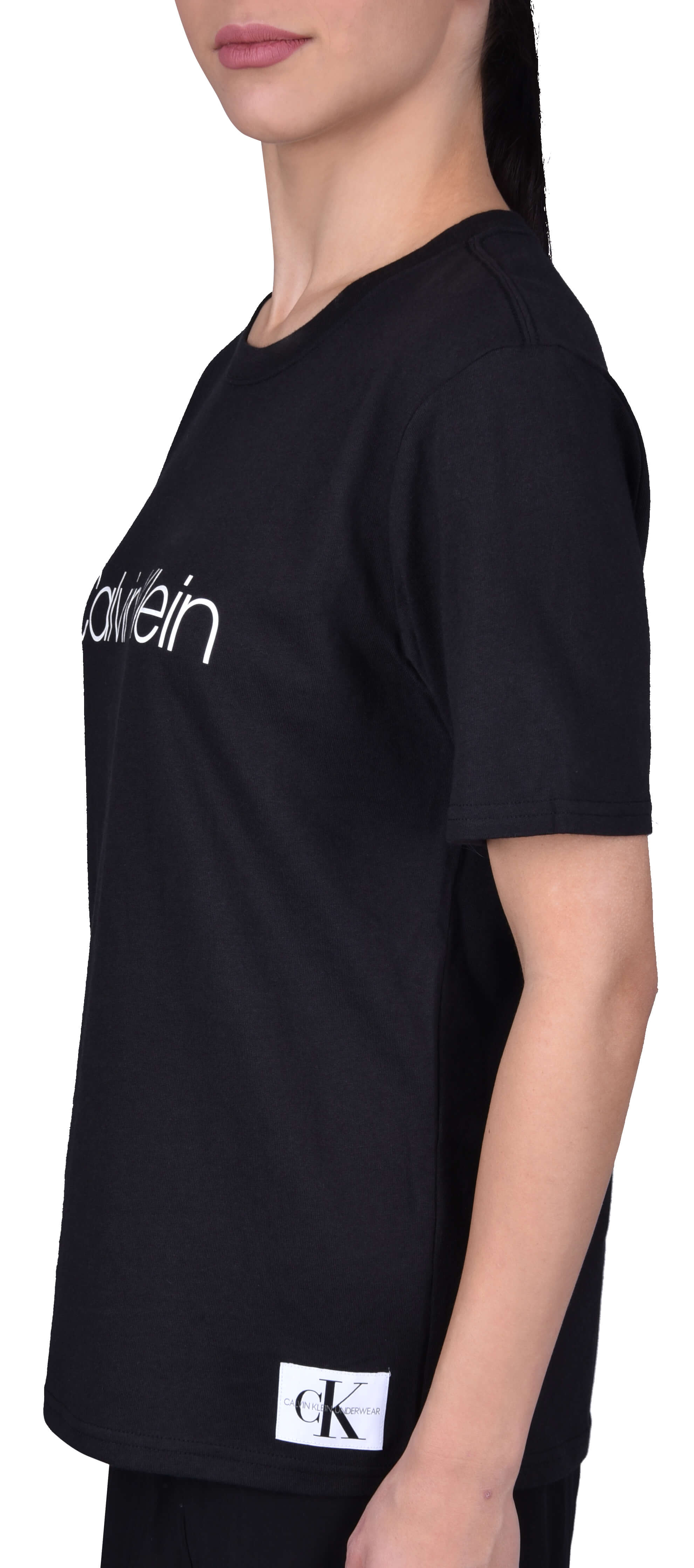 Calvin Klein Női póló S   S Crew Neck Black QS6151E -001  ca843fdf39