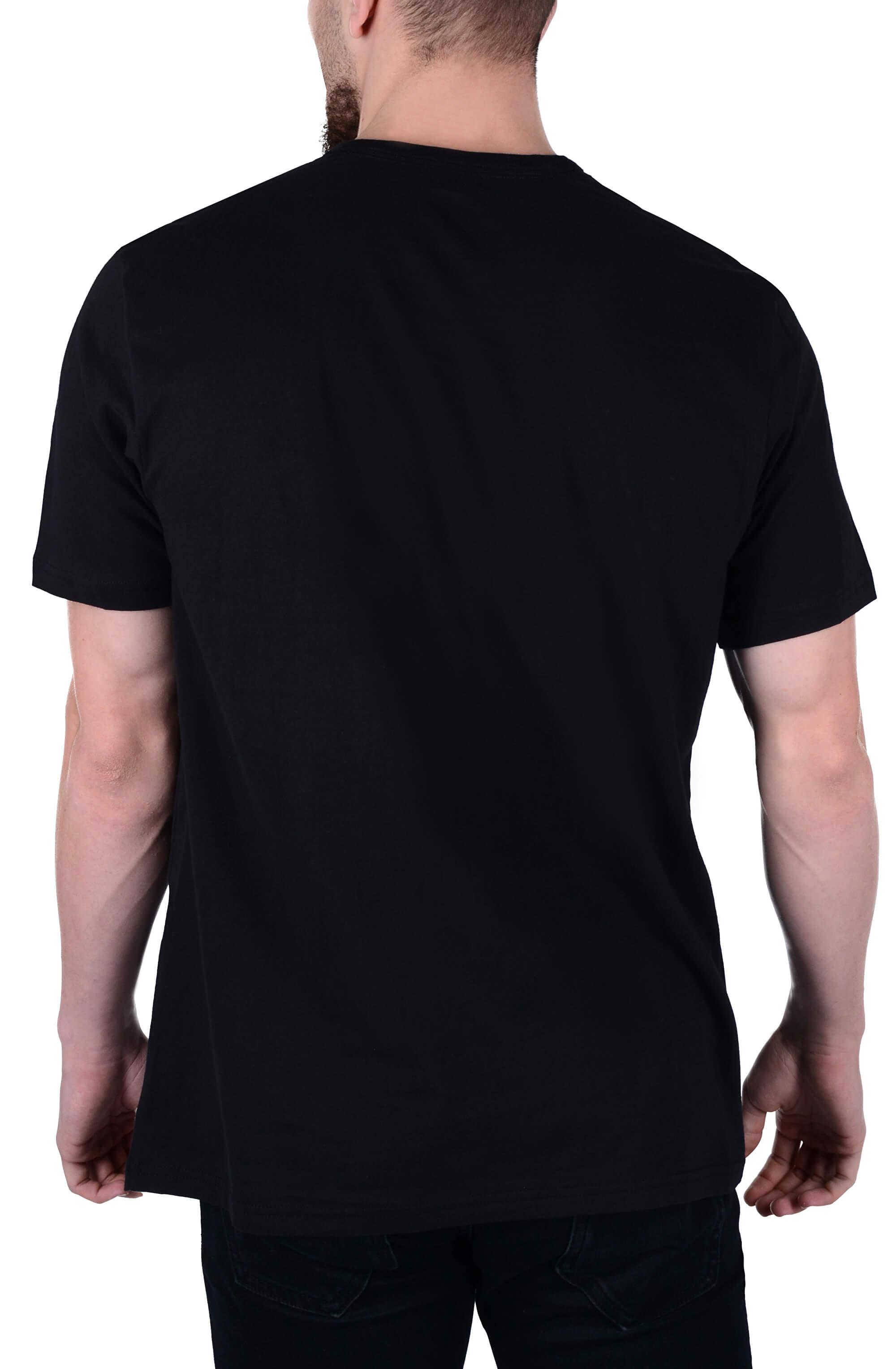 Calvin Klein Pánske tričko Comfort Cotton Small Logo Tee Black ... 3888e701355