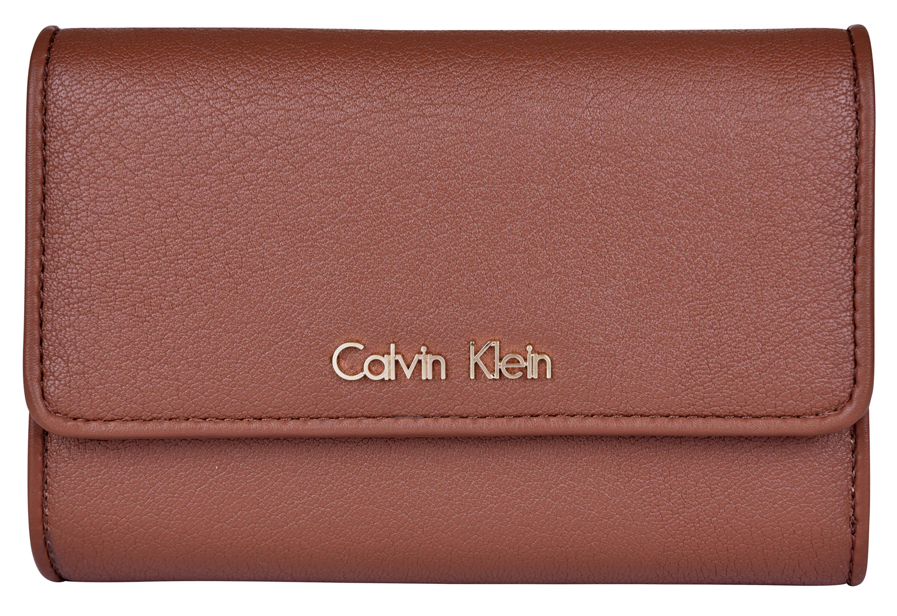 Calvin Klein Női pénztárca Flap francia Clutch - Brown Ingyenes ... 7f786a04e6