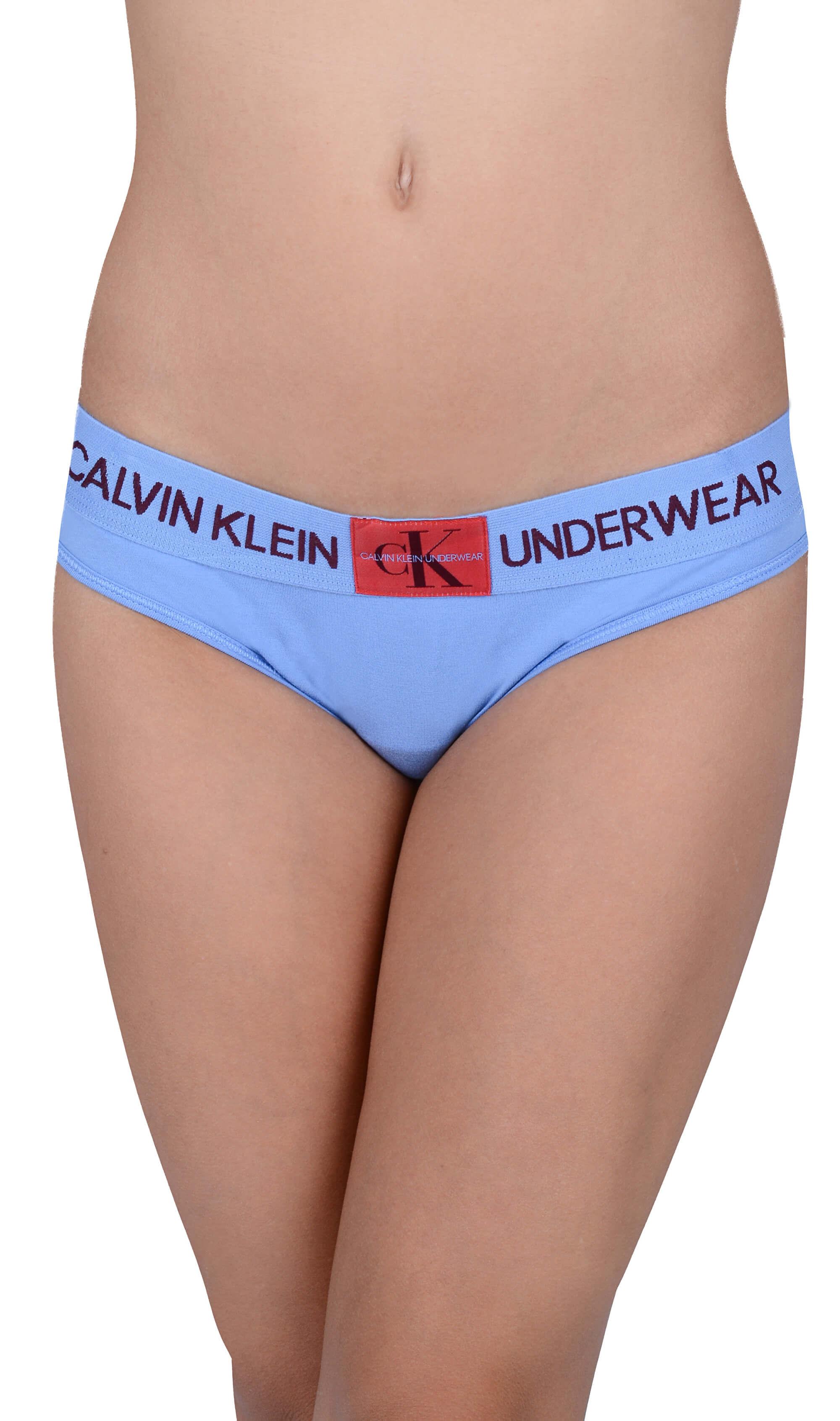 Calvin Klein Dámské kalhotky Bikini Periwinkle w manic red patch QF4921E-PWB 9ec75b1405