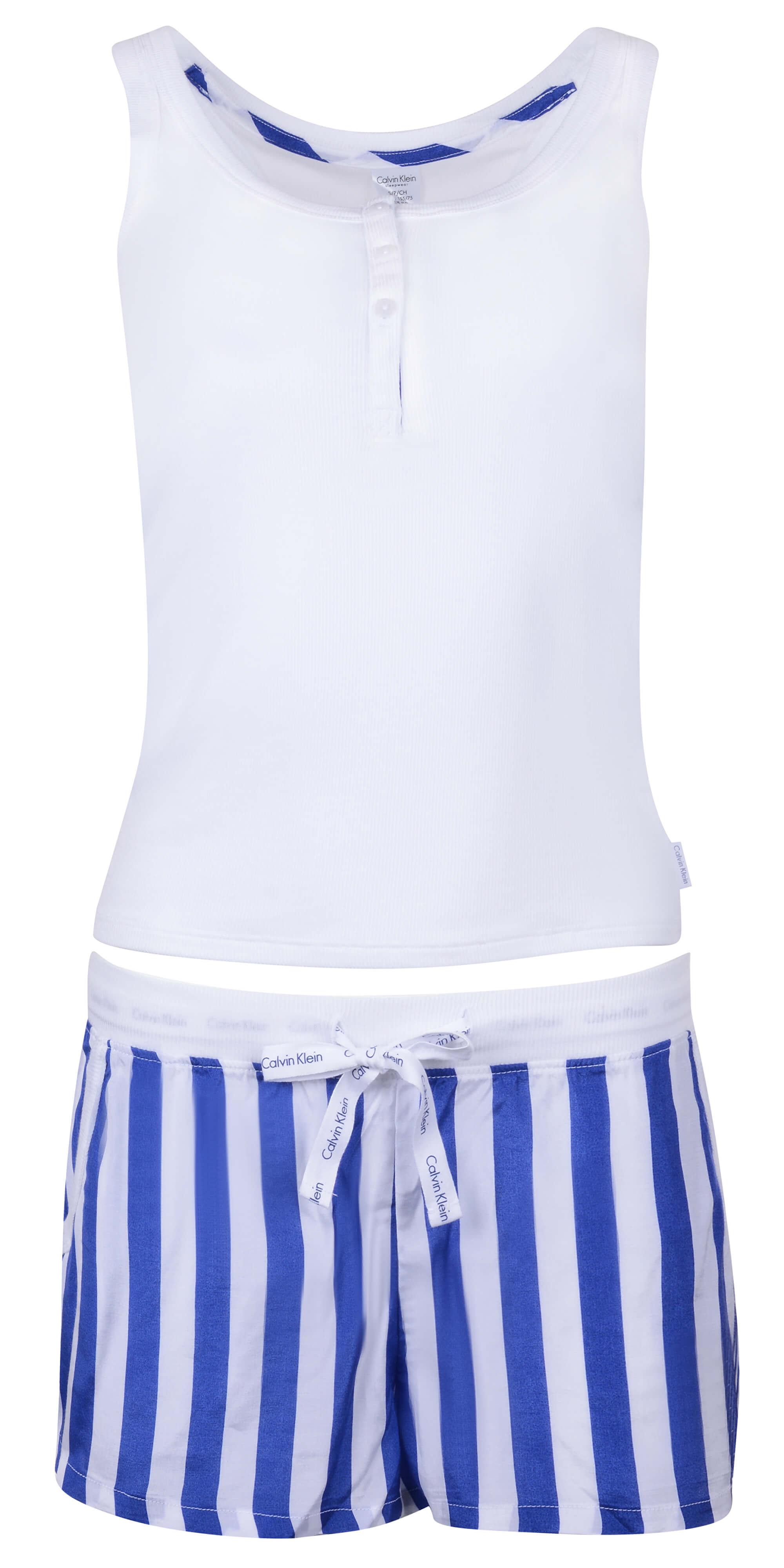 3af66f0910 Calvin Klein Dámske pyžamo Millenial PJ Set Attract   db Stripe Vertical  Print QS6025E