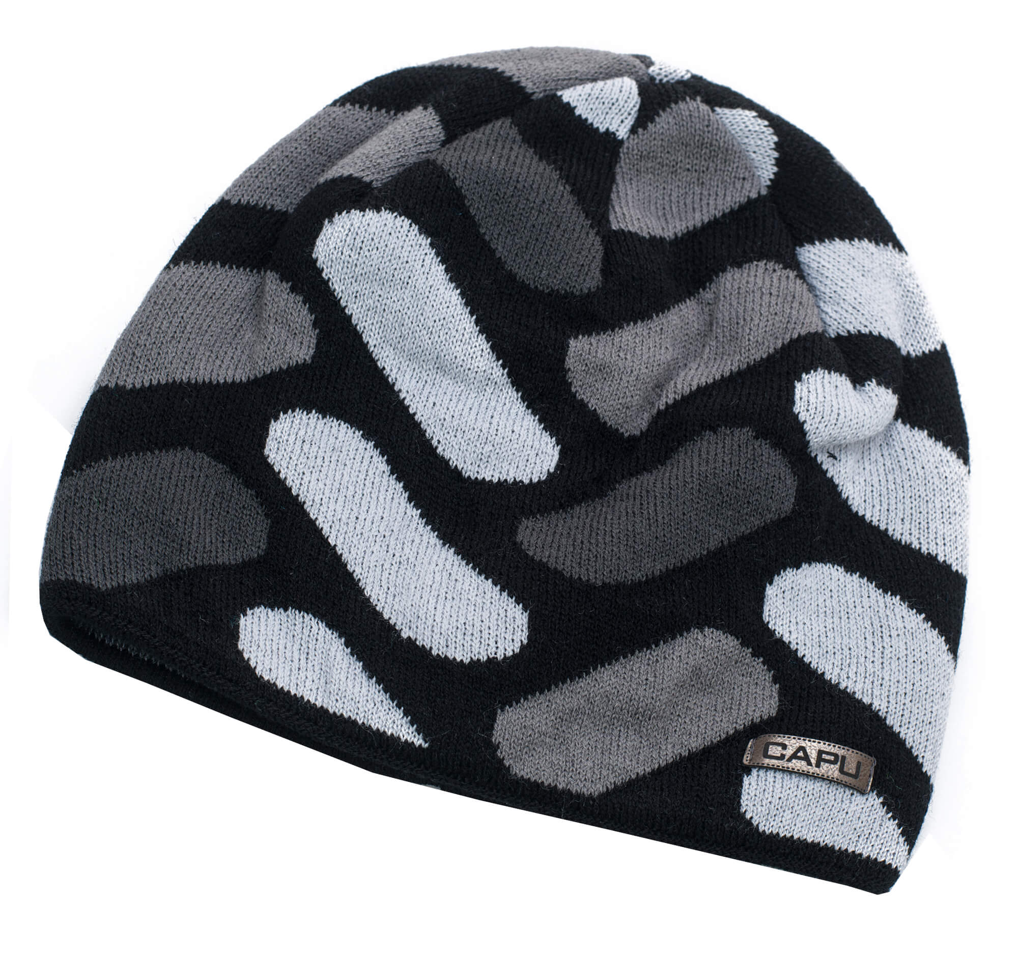 CAPU Téli kalap 1641-D Grey  5c1b685ba7