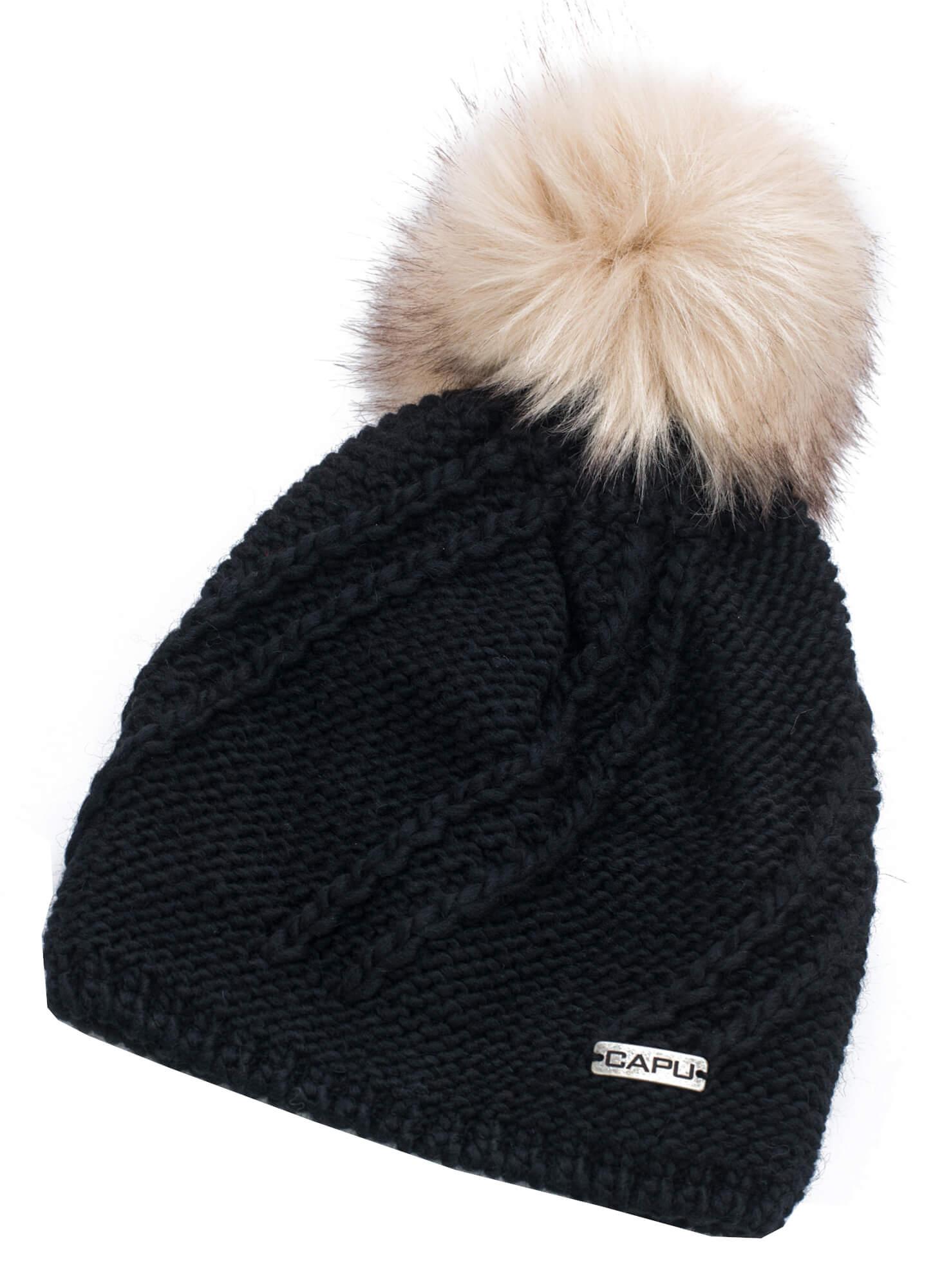 CAPU Zimní čepice 366-D Black  55adbce5fc