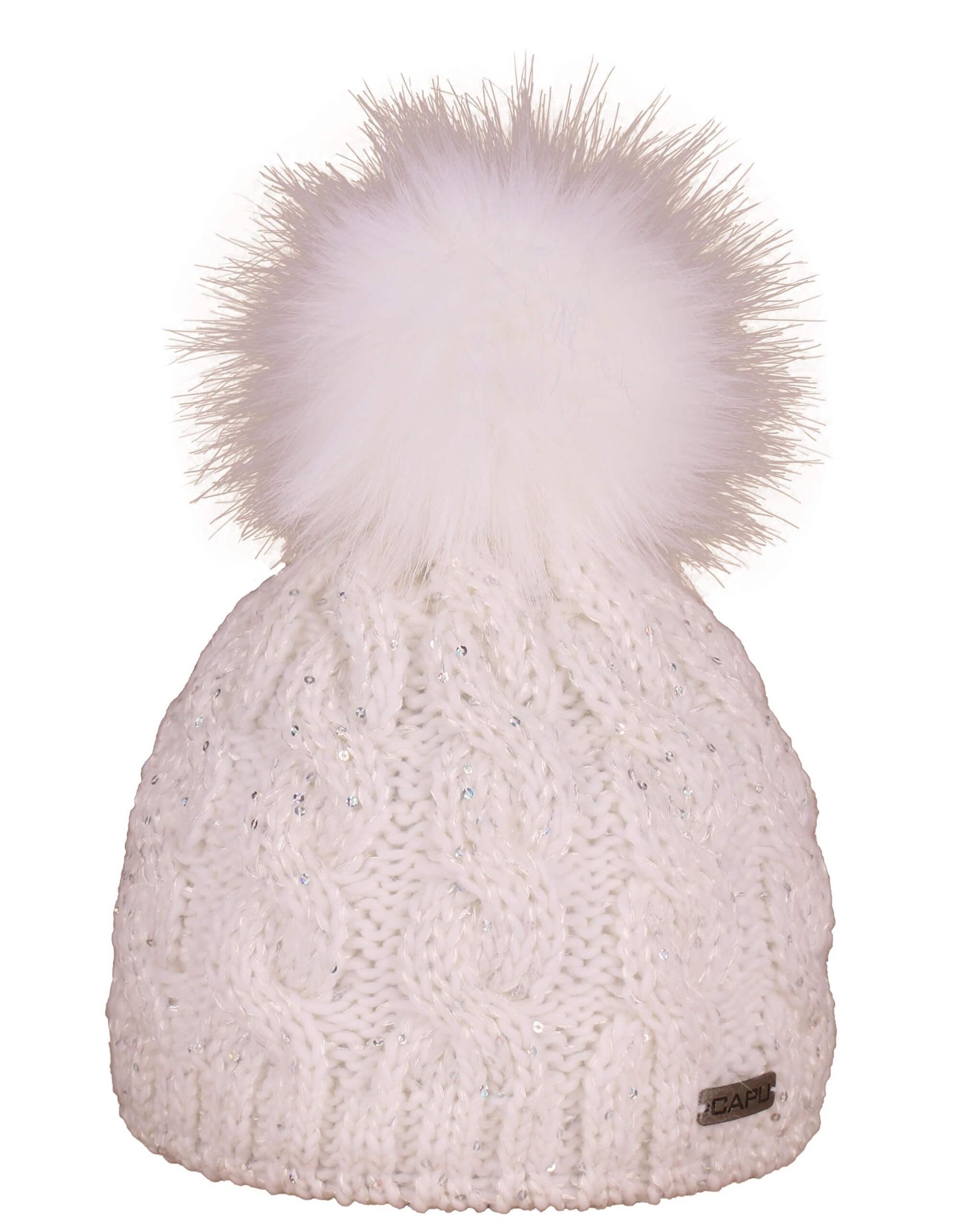 CAPU Zimní čepice 396-A White  7a61cfa77a