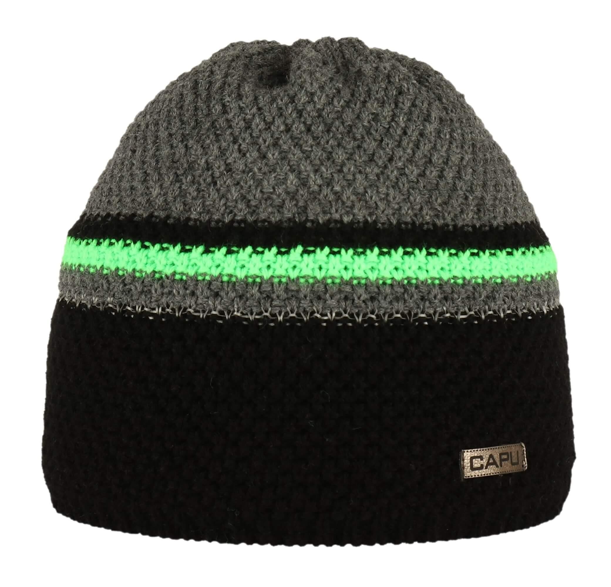 CAPU Téli kalap 678-C Green  d8ebefd200