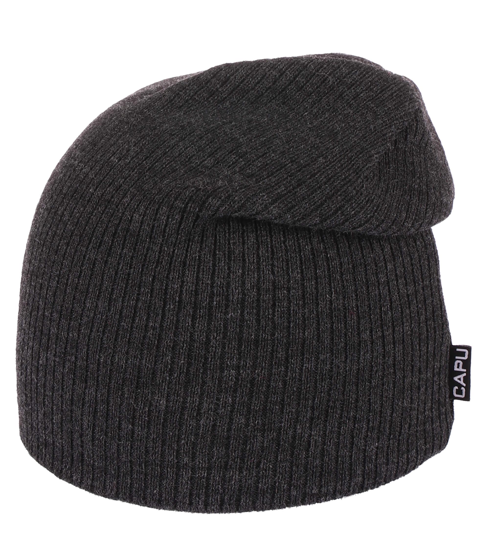 CAPU Winter Cap E-1665 Dark Grey  355d652794