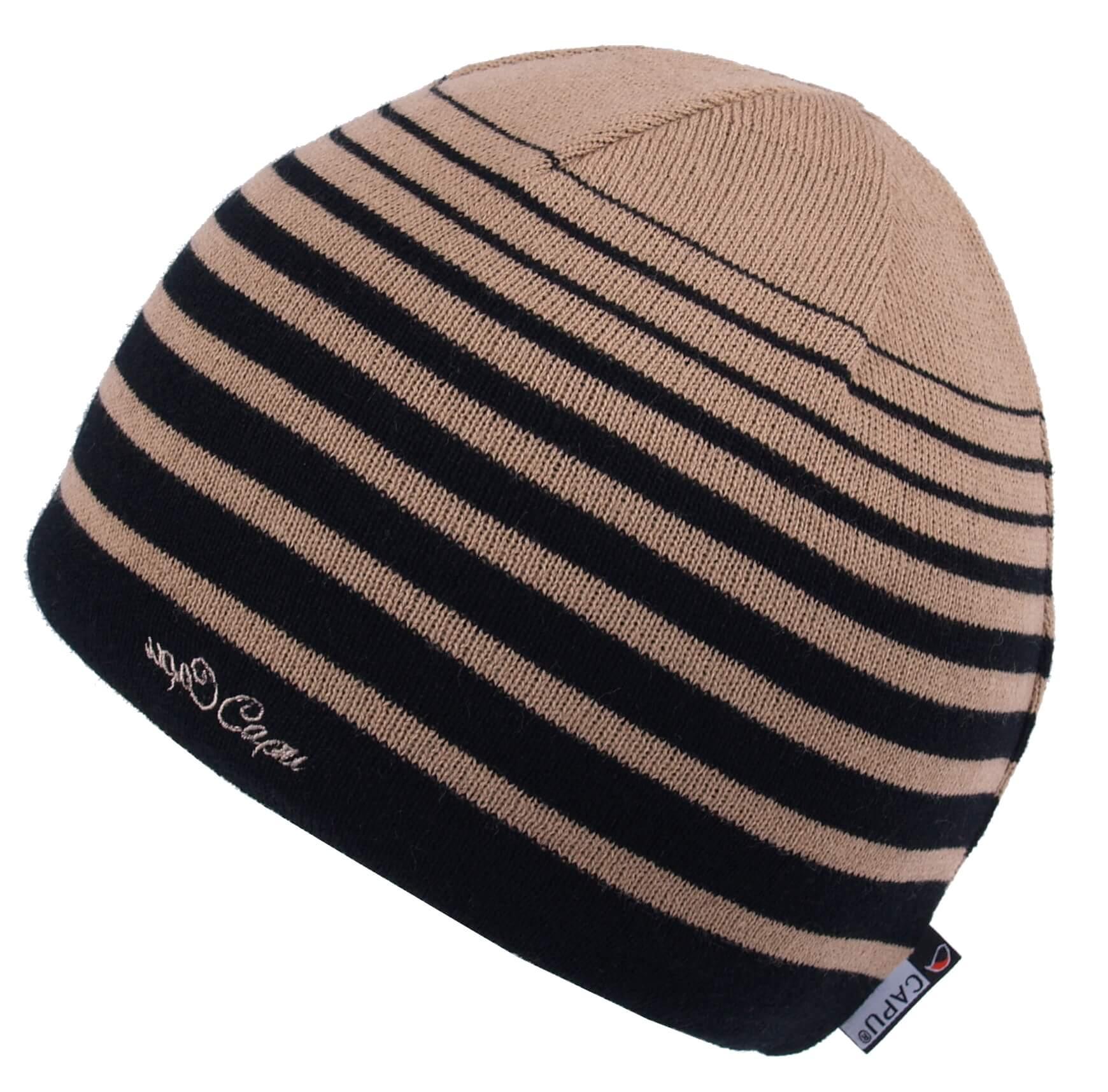 CAPU Téli sapkák Brown 1652-A  2890f107c4
