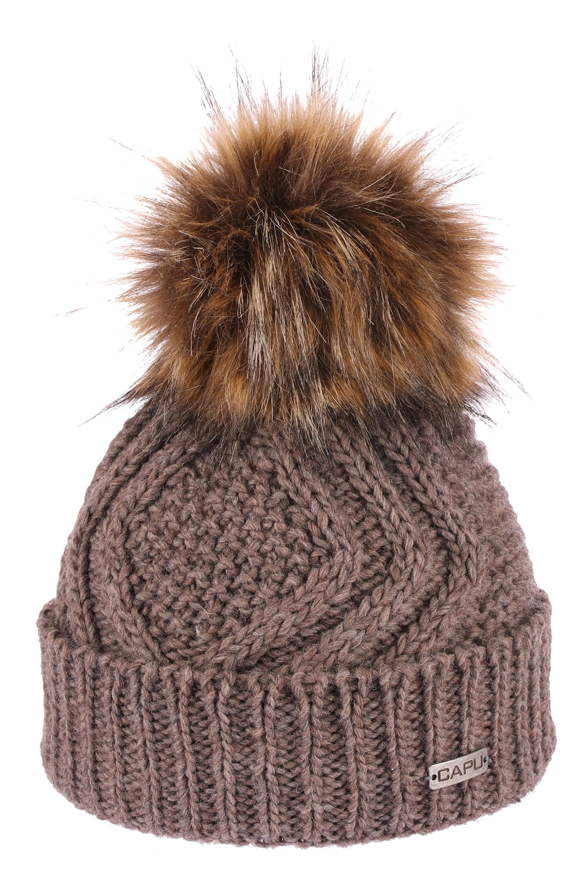 CAPU Zimní čepice 385-E Brown  94d9b0f5f5
